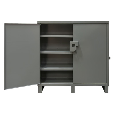 Job Site Cabinet, 60 in. Wide, 3 Fixed Shelves
