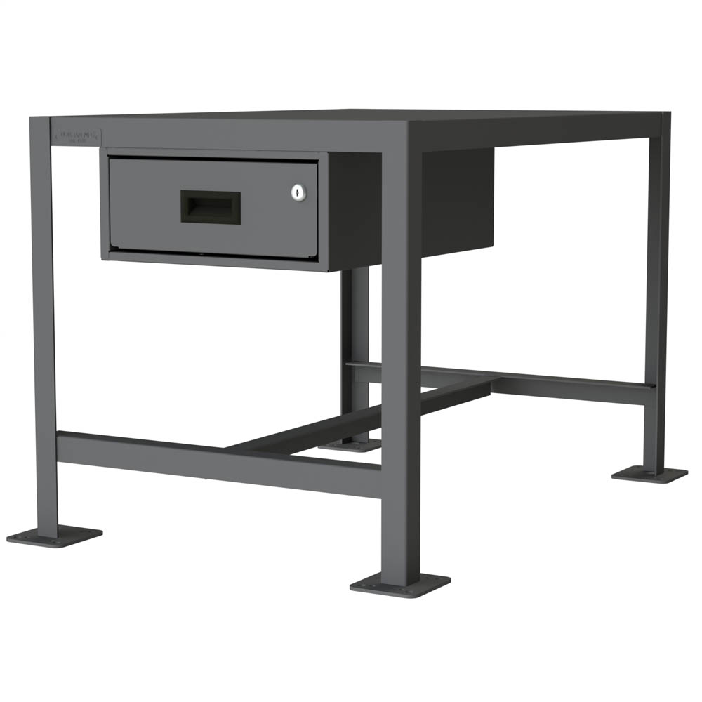 "Medium Duty Machine Table with Drawer - 48"" Wide"
