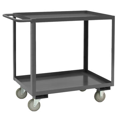 Rolling Service Stock Cart, 4 Shelves