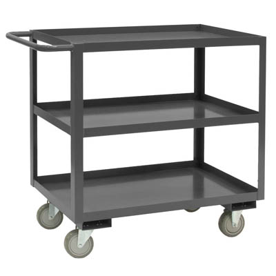"Rolling Service Stock Cart, 3 Shelves - 35""H"