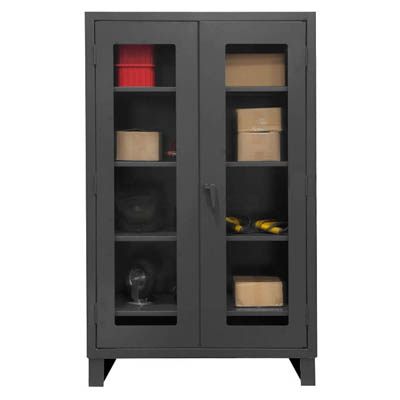 "Extra Heavy Duty Clearview Lockable Storage Cabinet, 60""W"