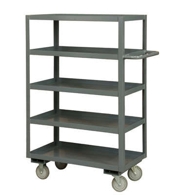 "Rolling Service Stock Cart, 5 Shelves - 55-3/4""H"