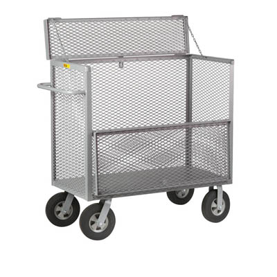 "Security Box Truck w/ 10"" Solid Rubber Casters"