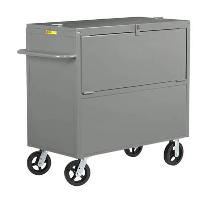 "Security Box Truck w/ Solid Sides & 6"" Mold-on Rubber Casters"