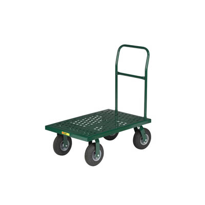 "Nursery Platform Truck with Perforated Flush Deck, 9"" Pneumatic Wheels (1,000 lbs. Capacity)"
