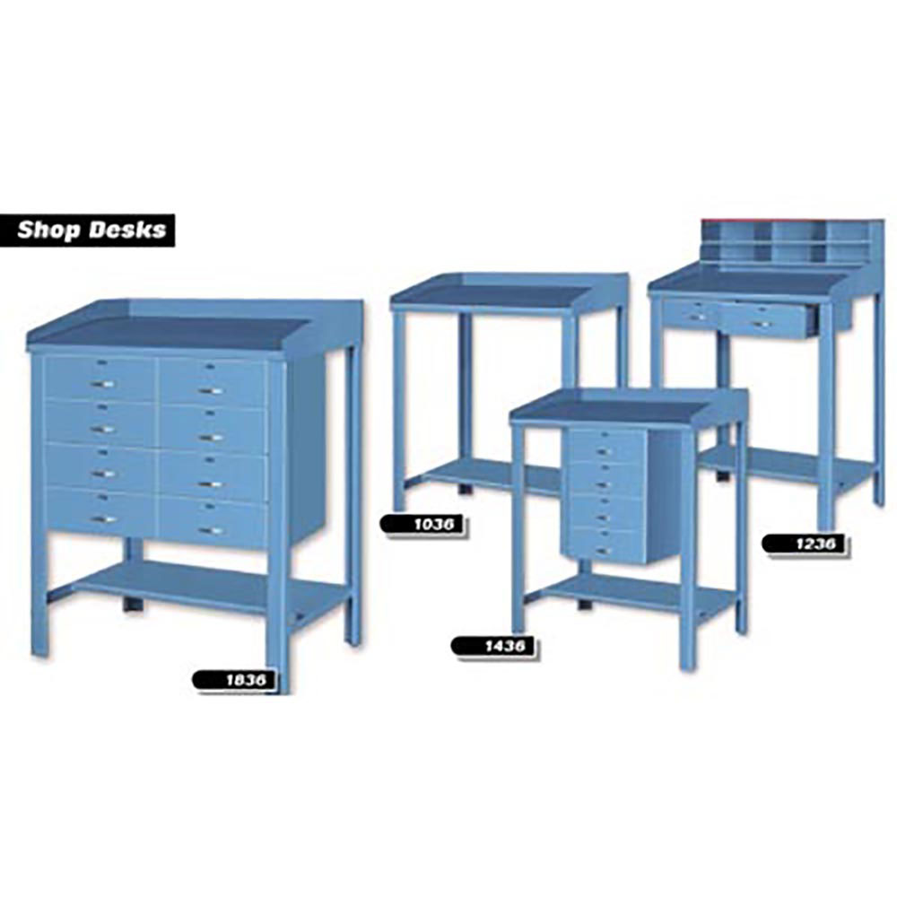 Pucel 1036 1836 Series Standing Shop Desks 36 Wide