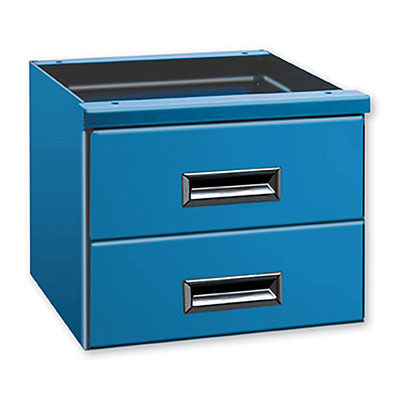 1424 Series Bench Drawer Unit, 15-1/2'W x 24'D w/ 2 Drawers