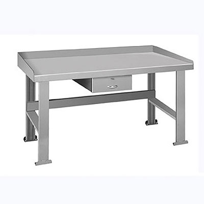 BD Series Welded Steel Benches Basic + Drawer 120'W