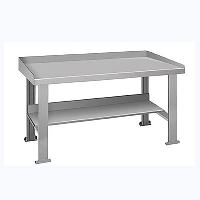 "BS Series Welded Steel Benches Basic + Shelf 96"" Wide"