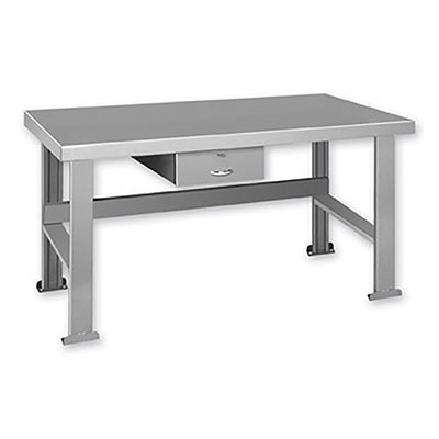 "FD Series Welded Steel Benches Basic + Drawer 60"" Wide"
