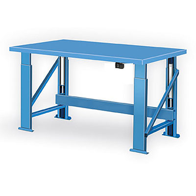 "HBS Series Steel Top Hydraulic Benches - Electric 72""L"