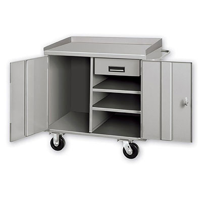 PC Series Mobile Cabinet Workbenches w/ 2 Shelves & 1 Drawer