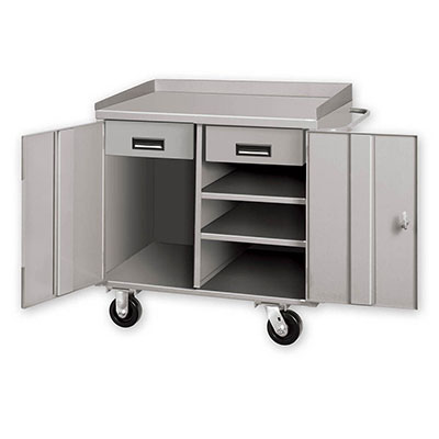 PC Series Mobile Cabinet Workbenches w/ 2 Shelves & 2 Drawers