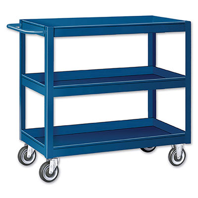 SC Series Tray Top Stock Carts - 3 Shelves, 24'W x 36'D x 36'H