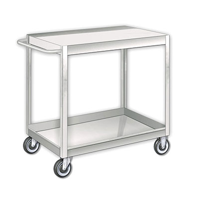 2 Shelf, SCF-SS Series Stainless Steel Stock Carts