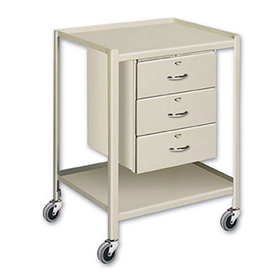 TU Series Utility Tables & Carts 19'W x 25'D w/ 2 Shelves & 3 Drawers