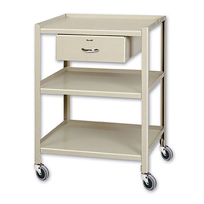 TU Series Utility Tables & Carts 20'W x 28'D w/ 3 Shelves & 1 Drawer