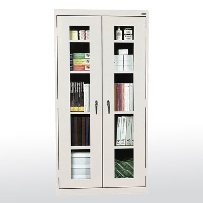 Clear View Storage Cabinet - 14 Color Options