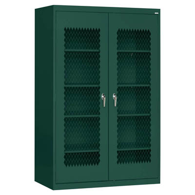 "Expanded Metal Front Extra Wide Cabinet, 46""W - 14 Color Options"