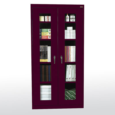 "Elite Series Clear View Storage Cabinet, 36""W - 14 Color Options"