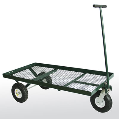 3-Wheel Steel Flat Wagon - 24'W x 48'L x 17'H