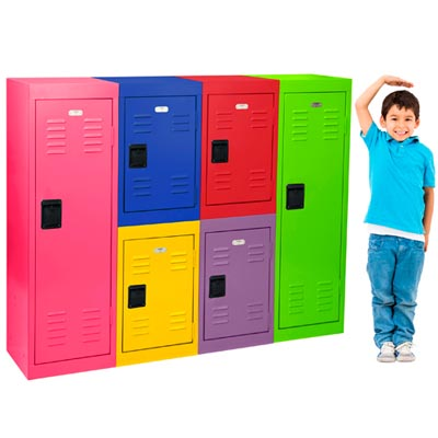 "Single Tier Welded Mini Locker - 24""H  - 14 Color Options"