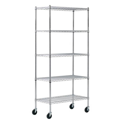 "Chrome Wire Shelving - 36""W X 24""D X 86""H"
