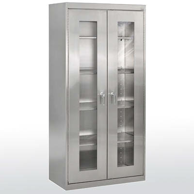 "Stainless Steel Clearview Cabinet, 47"" Wide"