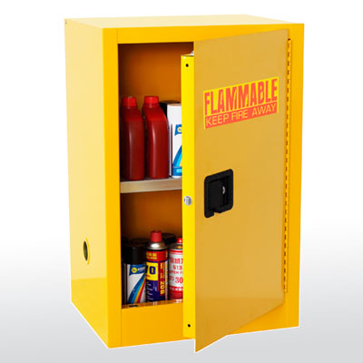 Compact Flammable Safety Cabinet - 12 Gallon Capacity