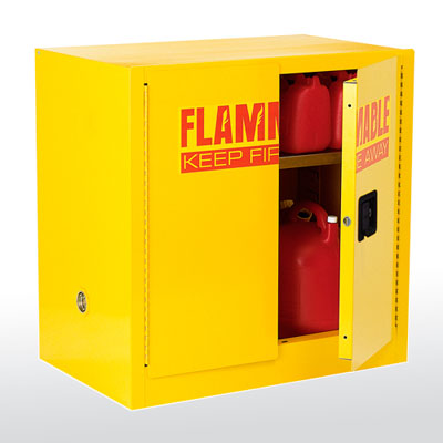 Compact Flammable Safety Cabinet - 22 Gallon Capacity