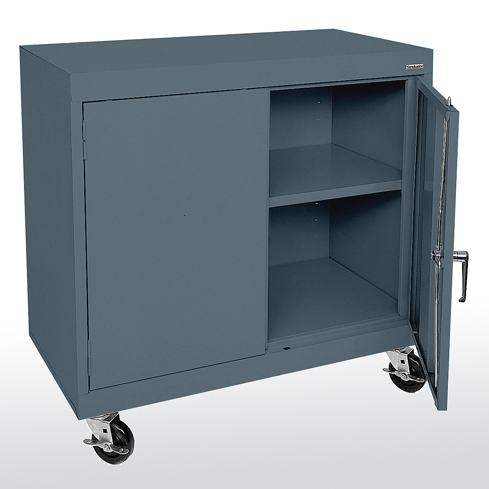Sandusky cabinets ta11361830 ta11362430 mobile counter for Cabinet height