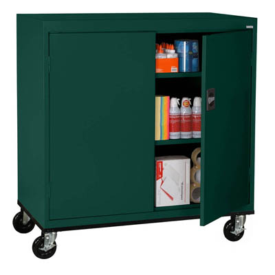 "Transport Series Extra Wide Work Height Mobile Storage Cabinet, 46""W"
