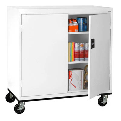 "Transport Series Extra Wide Work Height Mobile Storage Cabinet, 46""W - 14 Color Options"