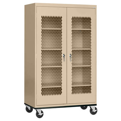 Expanded Metal Front Mobile Cabinet - 14 Color Options