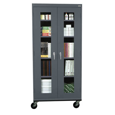 "Transport Mobile Clear View Cabinet - 46"" Wide - 14 Color Options"