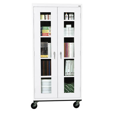 Transport Mobile Clear View Cabinet - 14 Color Options
