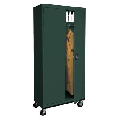 "Transport Series Mobile Wardrobe Cabinet, 36""W - 14 Color Options"