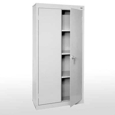 Valueline Series Fixed Shelves Storage Cabinet - 3 Color Options