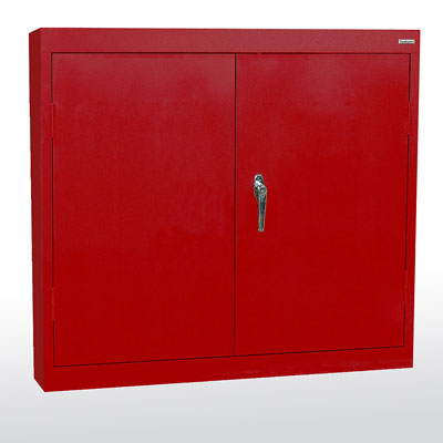 Solid Door Wall Cabinet - 14 Color Options