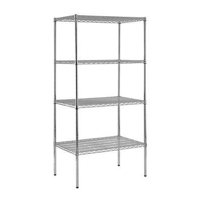 "Chrome Wire Shelving - 36""W X 24""D X 74""H"