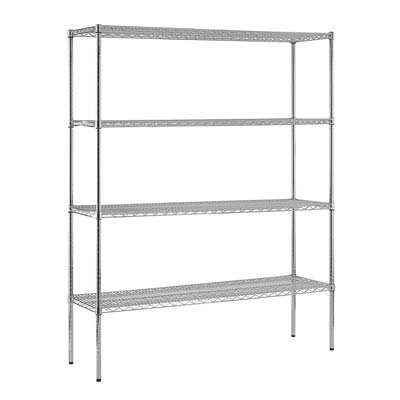 "Chrome Wire Shelving - 60""W X 18""D X 74""H"