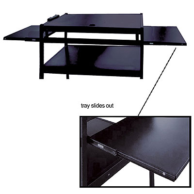 Wide Body TV Monitor Cart (Easy To Assemble)