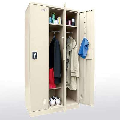Snap It, Easy To Assemble, Full Length Triple Wide Locker - 3 Color Options