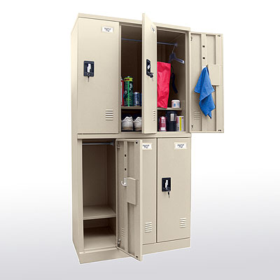 Snap It, Easy To Assemble, Double Tier Triple Wide Locker