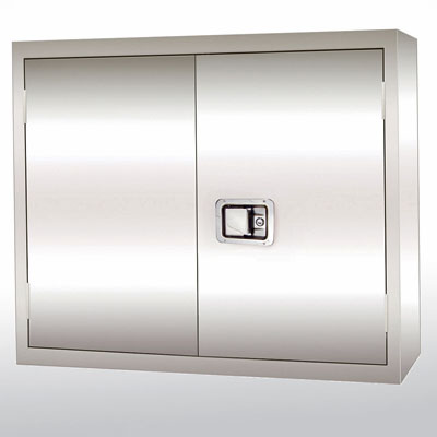 Stainless Steel Wall Mount Cabinet, Paddle Lock