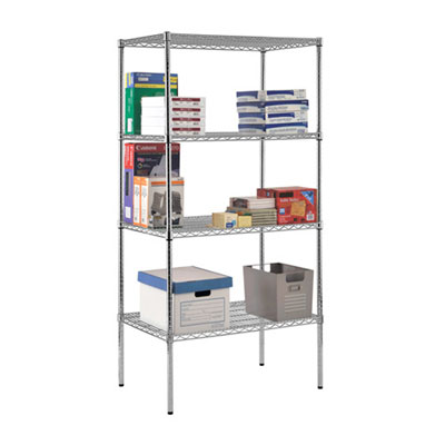 "Chrome Wire Shelving - 48""W x 12""D x 86""H"