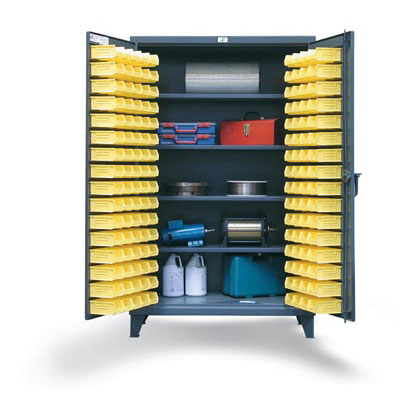 36-BS-244, Bin Storage Cabinet With Shelves, 36'W x 24'D x 78'H