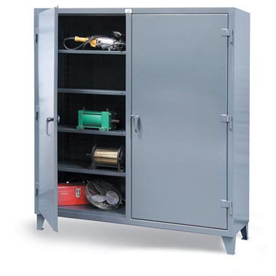 Double Shift Industrial Storage Cabinet - 12-Gauge, 72'W