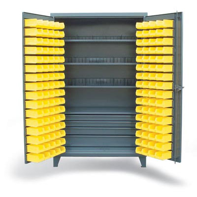 46-BSC-301-4DB-3SOS-20VD, Full-Width Drawer Cabinet With Bins And Dividers