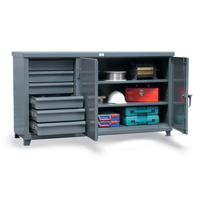 63-242-6/5DB, Cabinet Workbench with Half Width Drawers